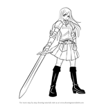 How to Draw Erza Scarlet from Fairy Tail
