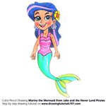 How to Draw Marina the Mermaid from Jake and the Never Land Pirates