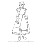 How to Draw Saber from Fate-Zero