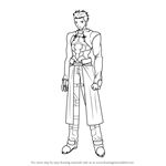 How to Draw Archer from Fate-stay night