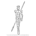 How to Draw Lancer from Fate-stay night