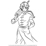How to Draw Kamui from Gin Tama