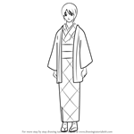 How to Draw Ketsuno Crystel from Gin Tama