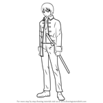How to Draw Okita Sougo from Gin Tama