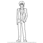 How to Draw Mitsuo Yanagisawa from Golden Time