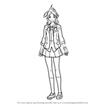 How to Draw Ayase Shinomiya from Guilty Crown
