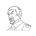 How to Draw General Yan from Guilty Crown