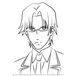How to Draw Hirohide Nanba from Guilty Crown