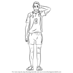 How to Draw Asahi Azumane from Haikyuu!!
