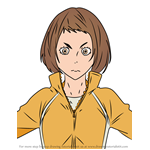 How to Draw Hana Misaki from Haikyuu!!