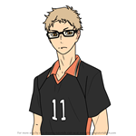 How to Draw Kei Tsukishima from Haikyuu!!
