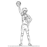 How to Draw Shoyo Hinata from Haikyuu!!