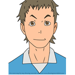 How to Draw Yoshiharu Haga from Haikyuu!!