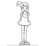 How to Draw Kyon's Sister from Haruhi Suzumiya