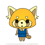 How to Draw Aggretsuko from Hello Kitty