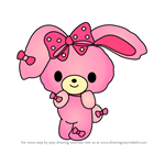 How to Draw Bonbonribbon from Hello Kitty