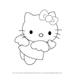 How to draw Hello Kitty Angel