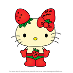 How to Draw Ichigoman from Hello Kitty