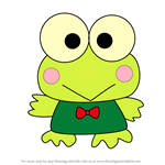 How to Draw Keroppi from Hello Kitty