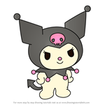 How to Draw Kuromi from Hello Kitty