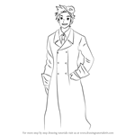 How to Draw Denmark from Hetalia: Axis Powers