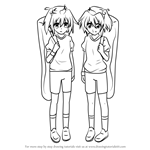 How to Draw Ile and Nel from High School DxD