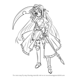 How to Draw Eucliwood Hellscythe from Koreha Zombie Desuka