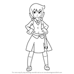 How to Draw Constanze Amalie von Braunschbank-Albrechtsberger from Little Witch Academia