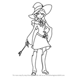 How to Draw Diana Cavendish from Little Witch Academia