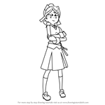 How to Draw Hannah England from Little Witch Academia