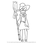 How to Draw Lotte Yanson from Little Witch Academia