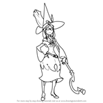 How to Draw Ursula Callistis from Little Witch Academia