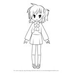 How to Draw Hikage Miyakawa from Lucky Star