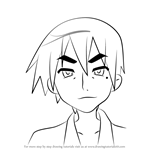 How to Draw Sojiro Izumi from Lucky Star