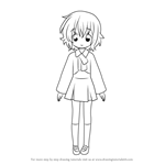 How to Draw Yukina Utsumi from Lucky Star