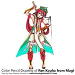 How to Draw Ren Kouha from Magi