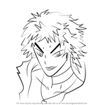 How to Draw Gunki Itoshima from Medaka Box