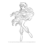 How to Draw Hanon Hosho from Mermaid Melody