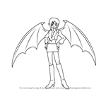 How to Draw Lady Bat from Mermaid Melody