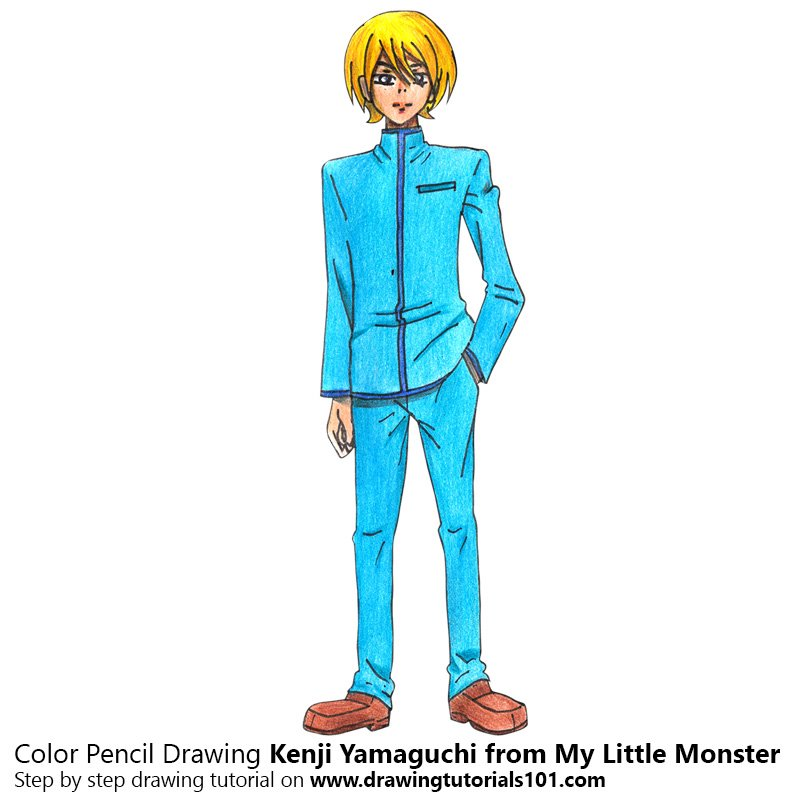 Kenji Yamaguchi from My Little Monster Color Pencil Drawing