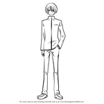 How to Draw Kenji Yamaguchi from My Little Monster