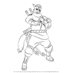 How to Draw Killer Bee from Naruto