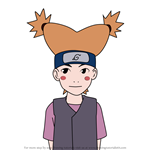 How to Draw Moegi Kazamatsuri from Naruto