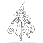 How to Draw Lala from Ojamajo Doremi