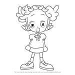 How to Draw Pop Harukaze from Ojamajo Doremi
