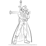 How to Draw Dracule Mihawk from One Piece