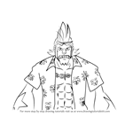 How to Draw Franky from One Piece