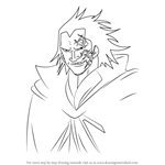 How to Draw Monkey D. Dragon from One Piece