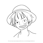 How to Draw Monkey D. Luffy from One Piece
