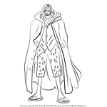 How to Draw Silvers Rayleigh from One Piece